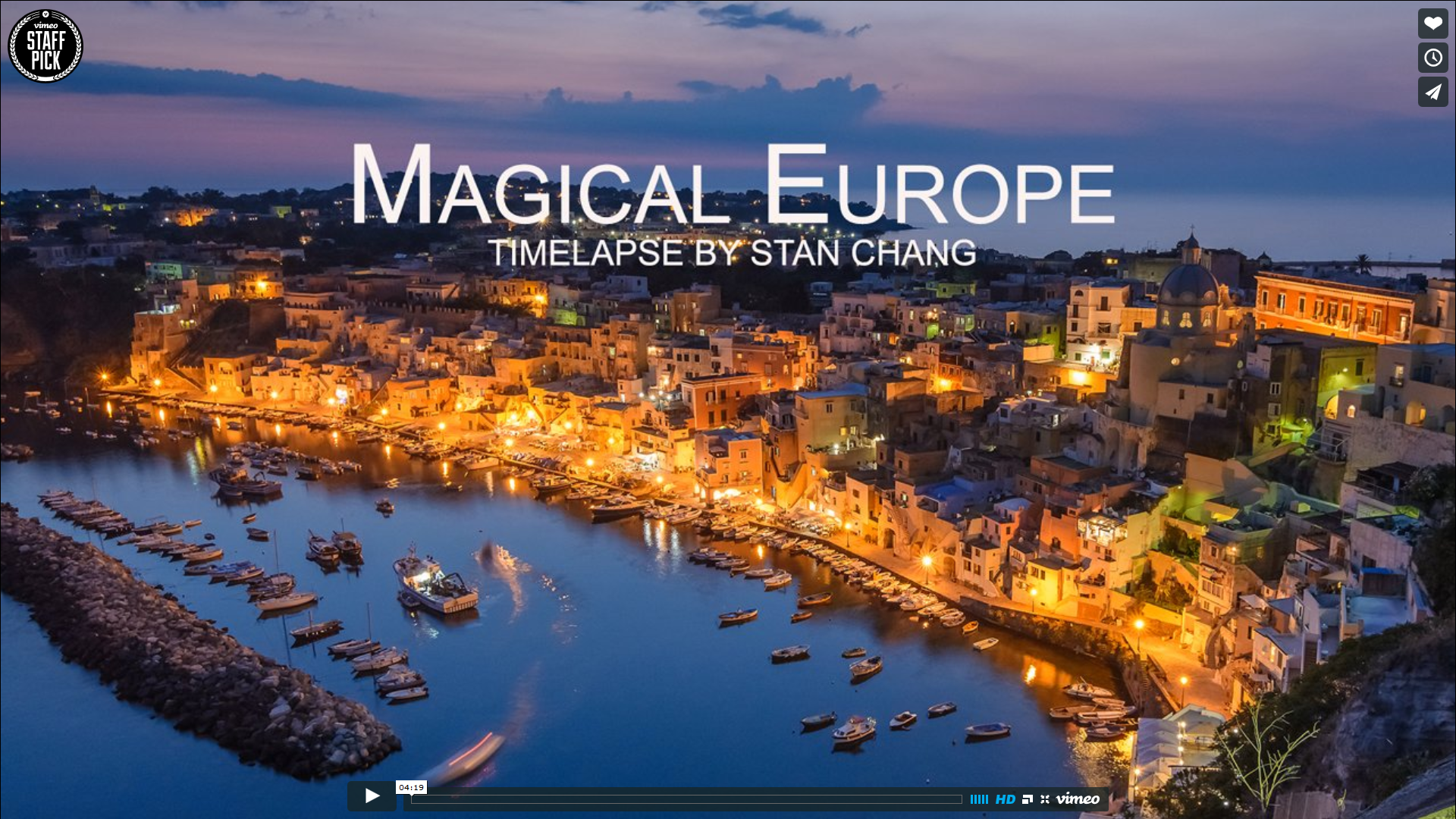 [Timelapse] Magical Europe