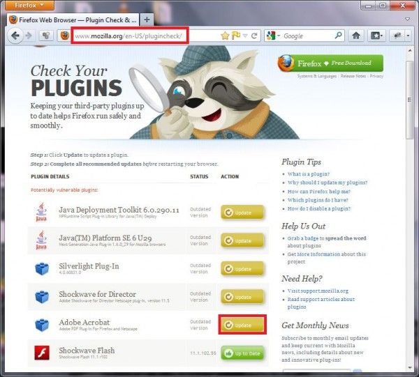 Firefox-Plugin-Check